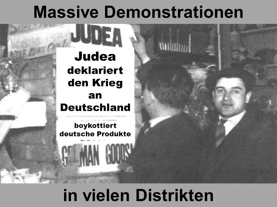 boykottiert alle deutsche Produkte Massive Demonstrationen in vielen Distrikten