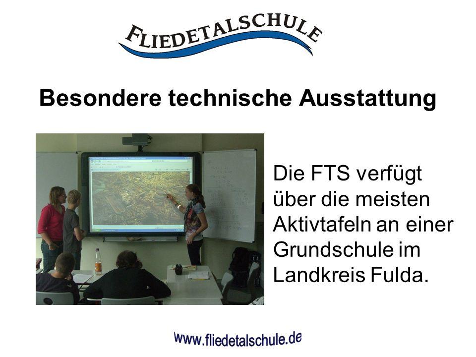 Besondere technische Ausstattung Die FTS verfügt über die meisten Aktivtafeln an einer Grundschule im Landkreis Fulda.