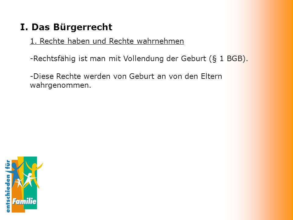 I.Das Bürgerrecht 1.