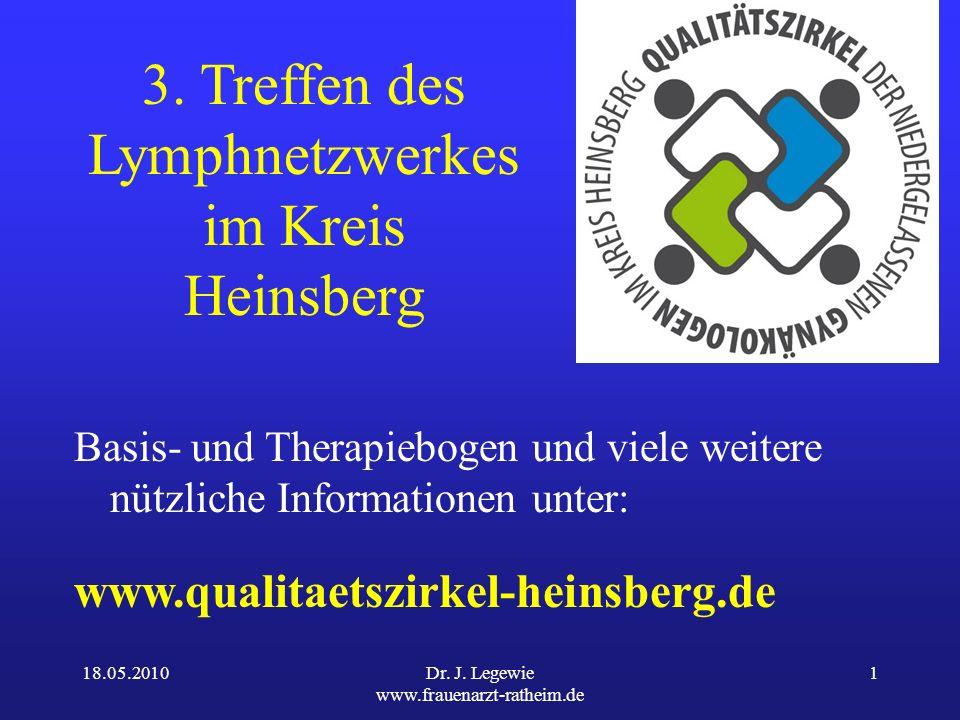 18.05.2010Dr.J. Legewie www.frauenarzt-ratheim.de 1 3.