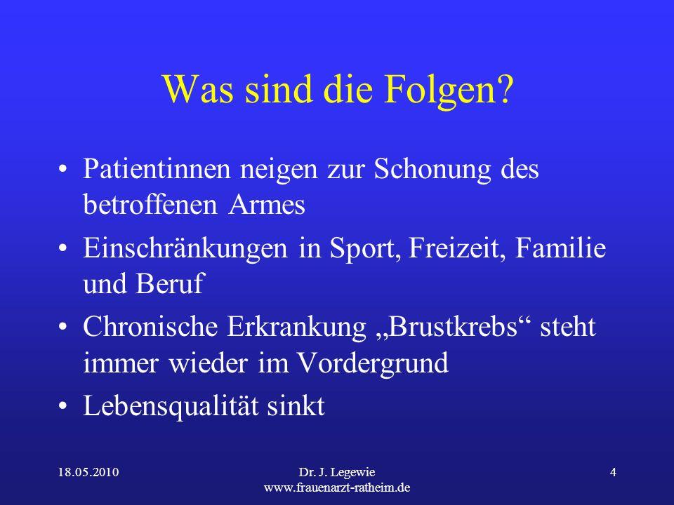 18.05.2010Dr.J. Legewie www.frauenarzt-ratheim.de 4 Was sind die Folgen.