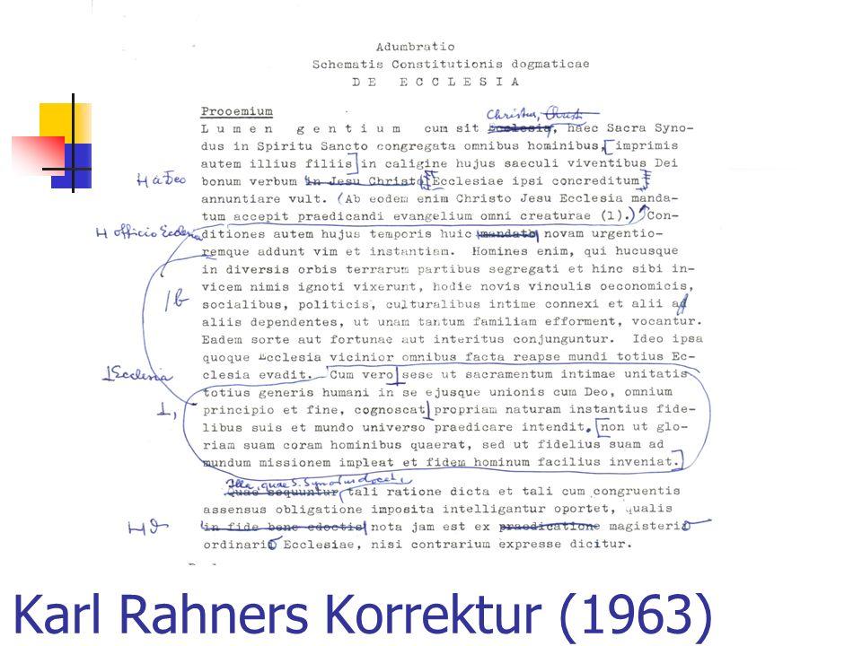 Karl Rahners Korrektur (1963)