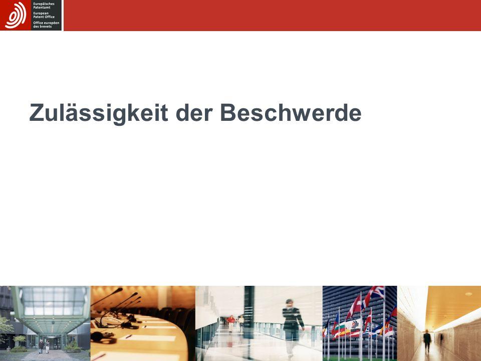 GRUR München ° 11.03.2014 24/8 Klarheitsprüfung in Einspruchsverfahren abgelehnt Einfügung eines neuen Merkmals aus Unteransprüchen nicht ursächlich für Klarheitsmangel: –T1855/07 (07.09.2010): Aus der Rechtsprechung der Beschwerdekammer geht jedoch hervor, dass die Befugnis zur Prüfung nach Artikel 84 EPÜ 1973 dann fehlt, wenn die Änderung lediglich aus einer satzbaulichen Eingliederung besteht, bei der die Bezugnahme auf den erteilten unabhängigen Anspruch durch Aufnahme dessen vollständigen Wortlauts in den nunmehrigen Anspruch ersetzt wird (Rechtsprechung der Beschwerdekammern des EPA, 6.