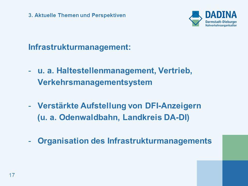 17 3.Aktuelle Themen und Perspektiven Infrastrukturmanagement: -u.