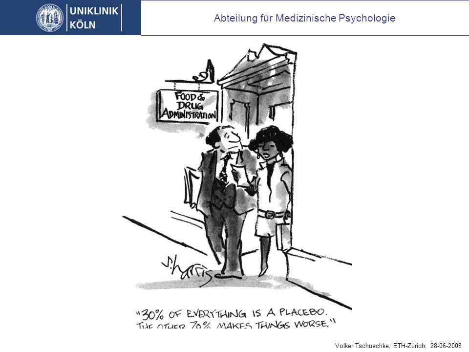 Abteilung für Medizinische Psychologie Volker Tschuschke, ETH-Zürich, 28-06-2008