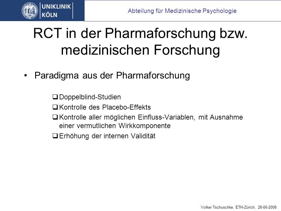 RCT in der Pharmaforschung bzw.