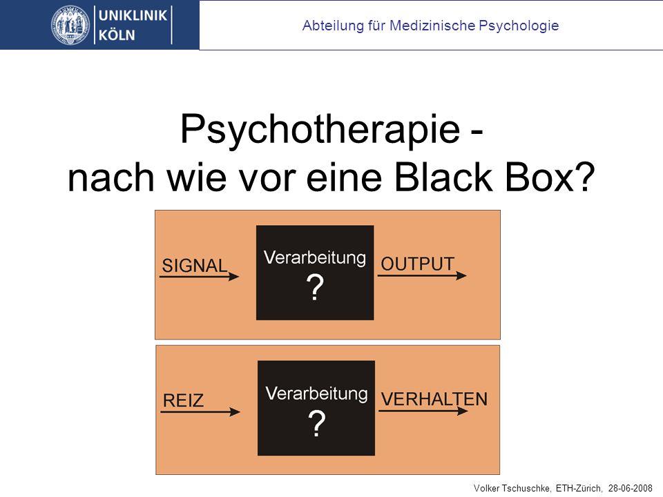 Psychotherapie - nach wie vor eine Black Box.