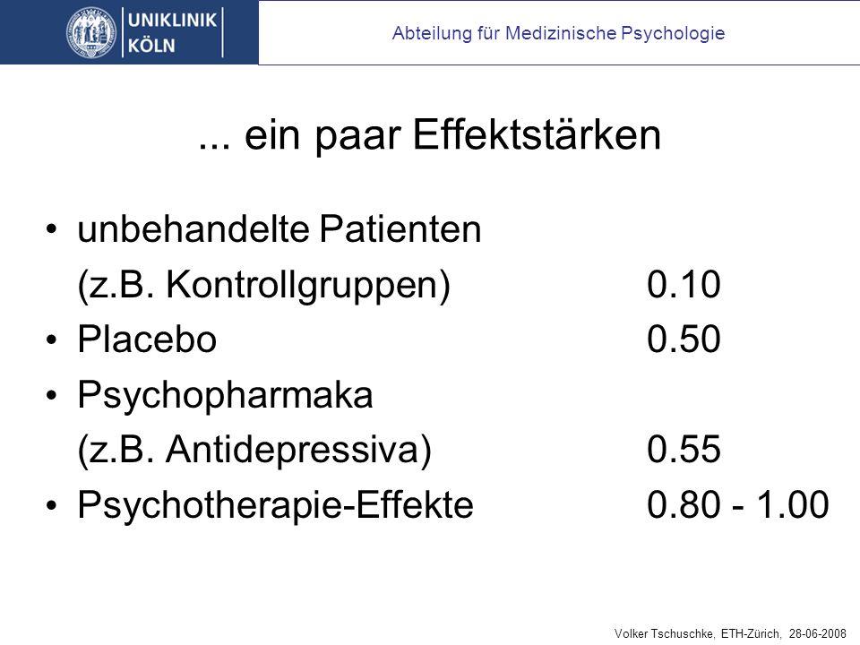 ...ein paar Effektstärken unbehandelte Patienten (z.B.