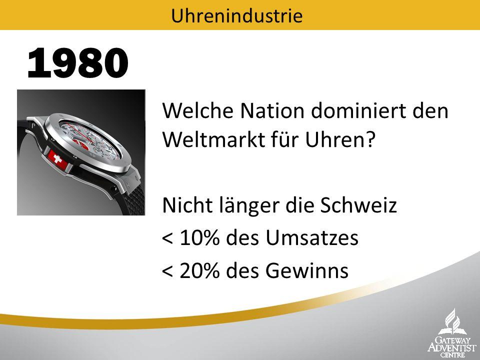 Schweizer Uhren-Industrie Was war geschehen.