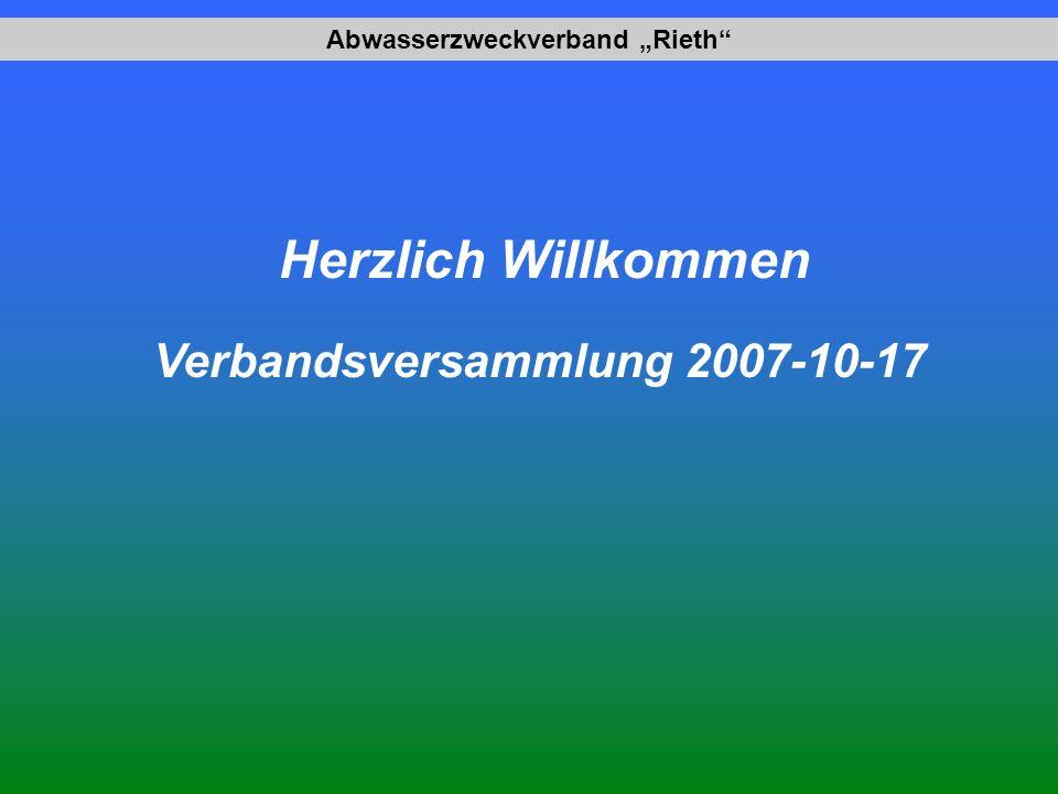 Abwasserzweckverband Rieth Herzlich Willkommen Verbandsversammlung 2007-10-17