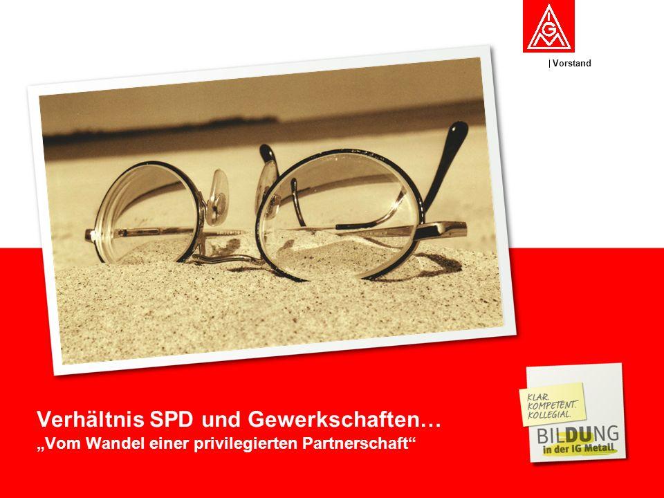 Vorstand Verhältnis SPD und Gewerkschaften… Vom Wandel einer privilegierten Partnerschaft