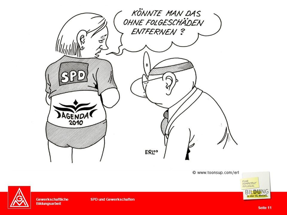 Gewerkschaftliche Bildungsarbeit Seite 11 SPD und Gewerkschaften