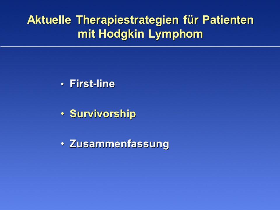 First-line First-line SurvivorshipSurvivorship ZusammenfassungZusammenfassung Aktuelle Therapiestrategien für Patienten mit Hodgkin Lymphom