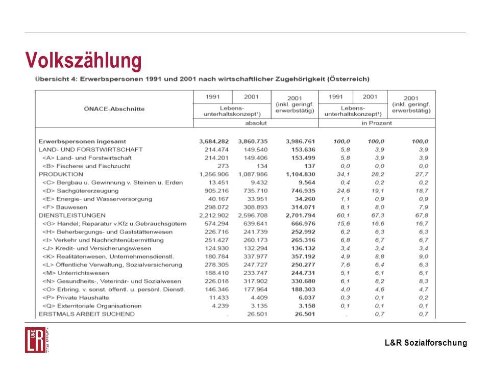 L&R Sozialforschung Mikrozensus (Arbeitskräfteerhebung – AKE)