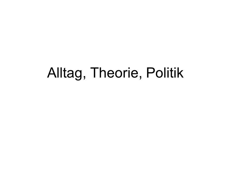 Alltag, Theorie, Politik