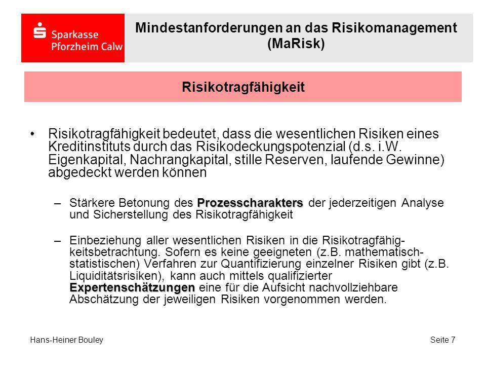 Risikokonzentrationen Risikokonzentrationen bedeuten die ungleichmäßige Verteilung innerhalb der wesentlichen Risiken, die bei ökonomischen Veränderungen zu schweren wirtschaftlichen Belastungen führen können (kleine Eintrittswahrscheinlichkeiten mit großer Wirkung).
