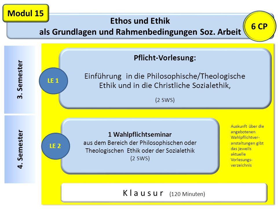 Ethos und Ethik als Grundlagen und Rahmenbedingungen Soz.