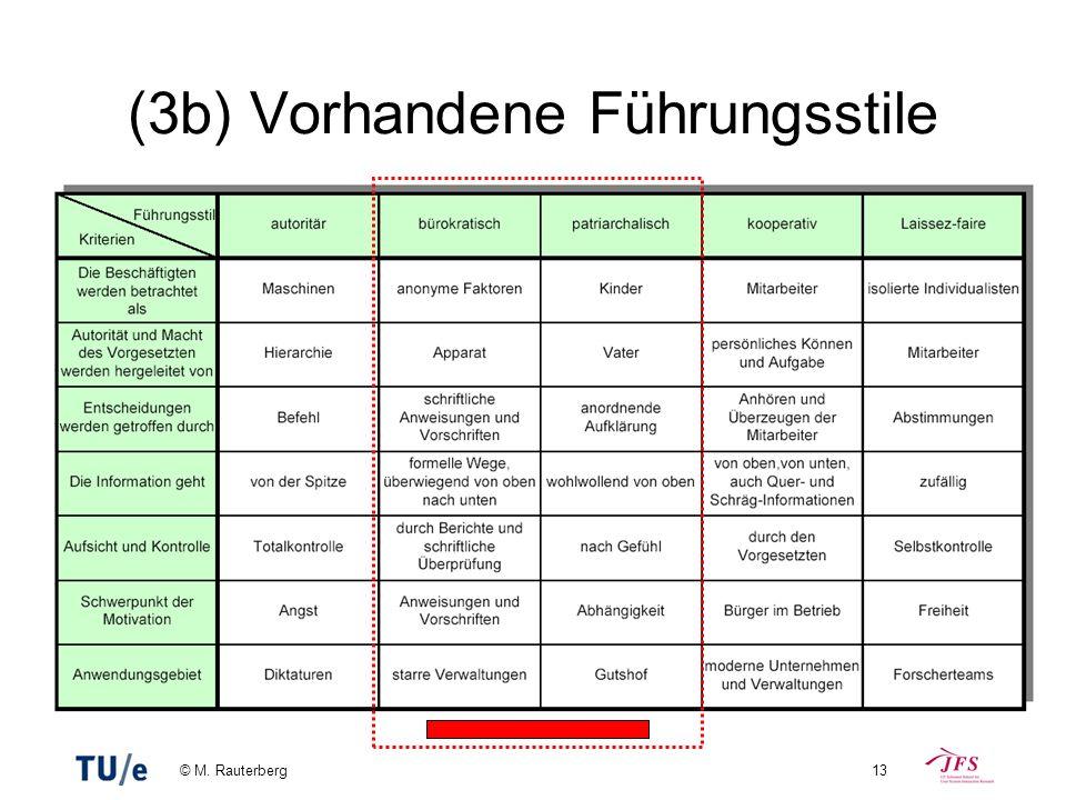 © M. Rauterberg13 (3b) Vorhandene Führungsstile