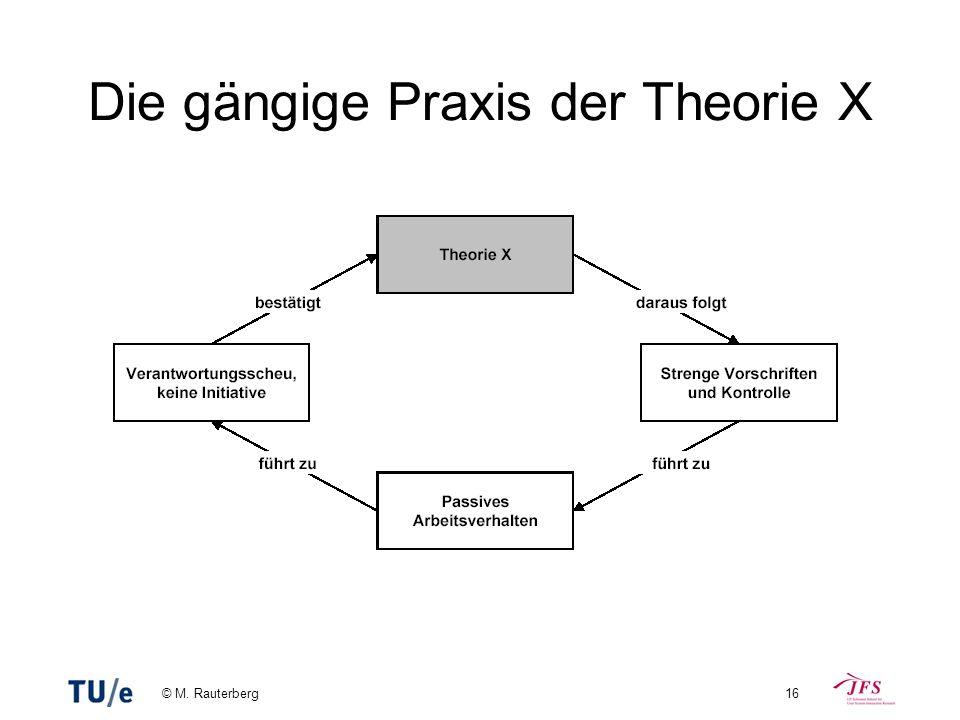 © M. Rauterberg16 Die gängige Praxis der Theorie X