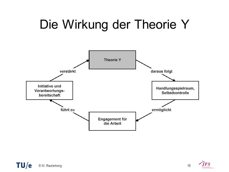 © M. Rauterberg18 Die Wirkung der Theorie Y