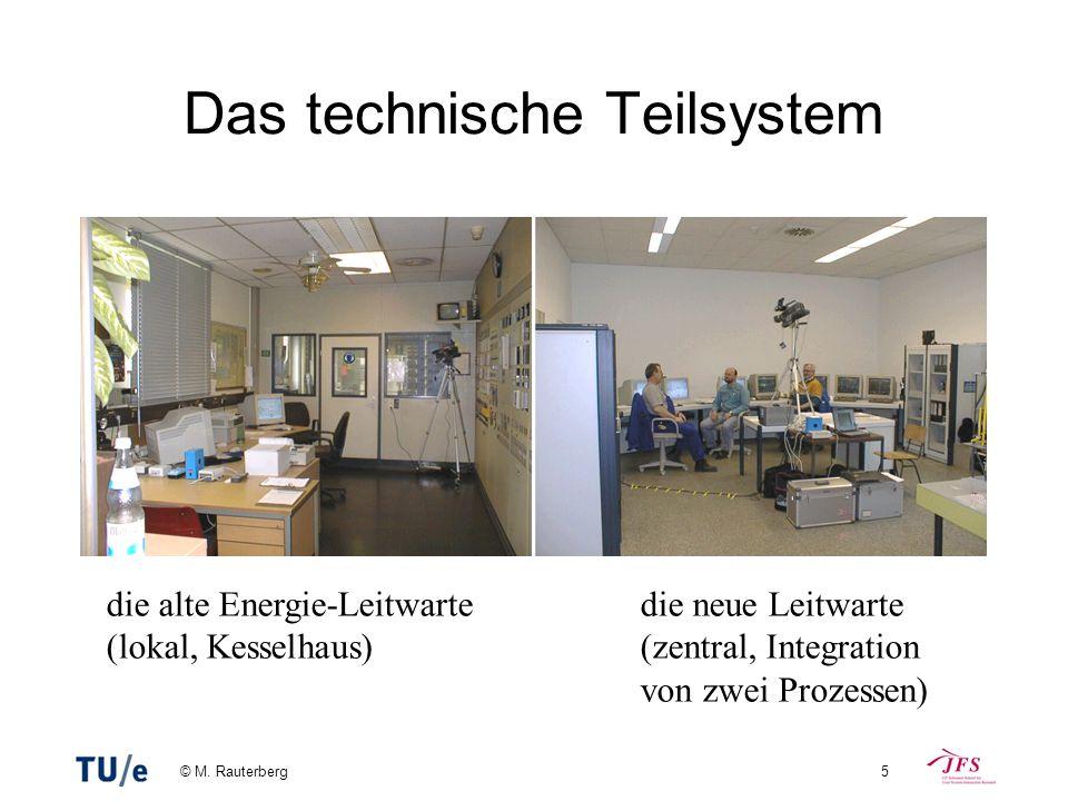 © M. Rauterberg5 Das technische Teilsystem die alte Energie-Leitwarte (lokal, Kesselhaus) die neue Leitwarte (zentral, Integration von zwei Prozessen)