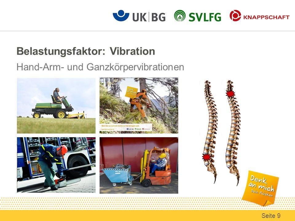 Belastungsfaktor: Vibration Hand-Arm- und Ganzkörpervibrationen Seite 9