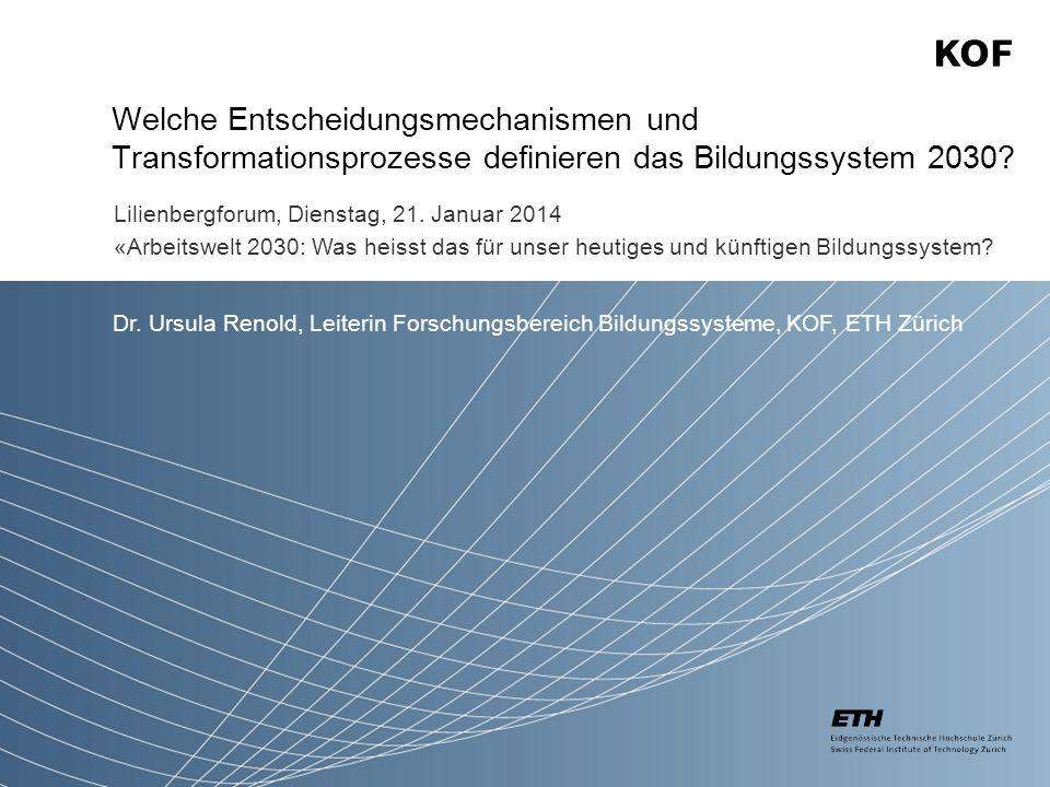 Welche Entscheidungsmechanismen und Transformationsprozesse definieren das Bildungssystem 2030.