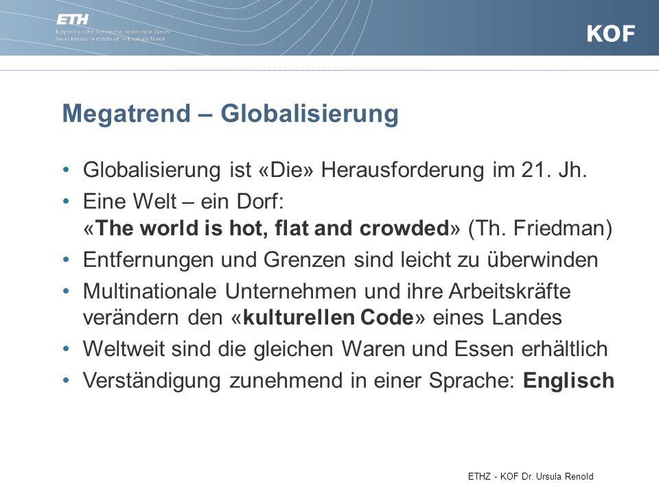 Megatrend – Globalisierung Globalisierung ist «Die» Herausforderung im 21.