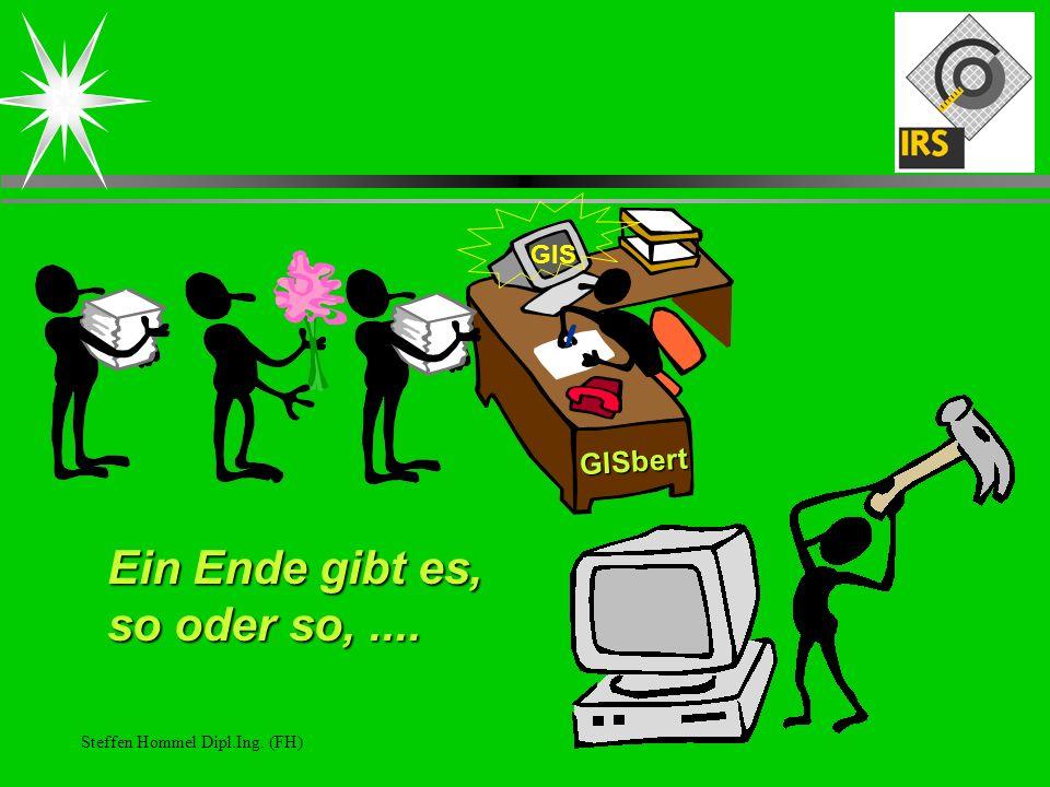 Steffen Hommel Dipl.Ing. (FH) Ein Ende gibt es, so oder so,.... GIS GISbert