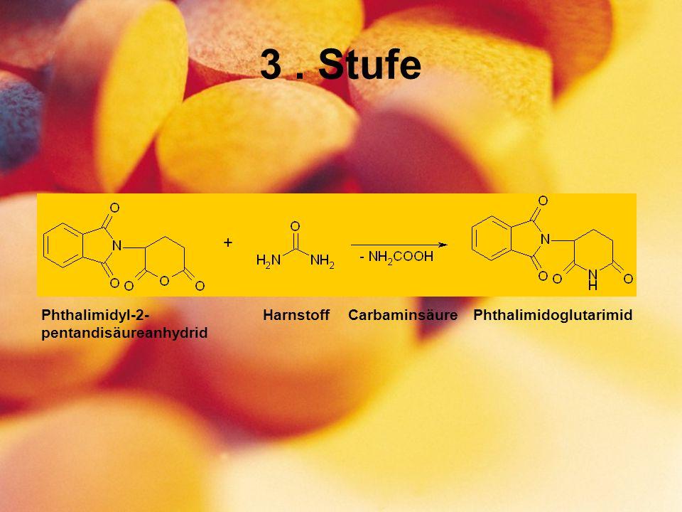 3. Stufe + PhthalimidoglutarimidHarnstoffCarbaminsäurePhthalimidyl-2- pentandisäureanhydrid