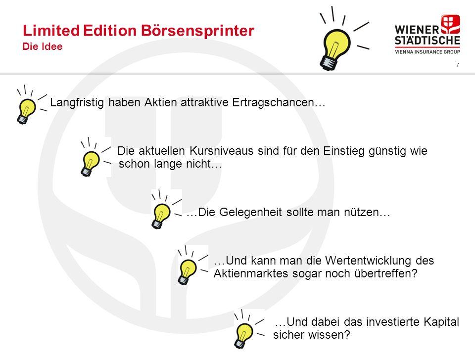 8 Limited Edition Börsensprinter Die Lösung… …Börsensprinter mit dem Gewinnfaktor 1,75.