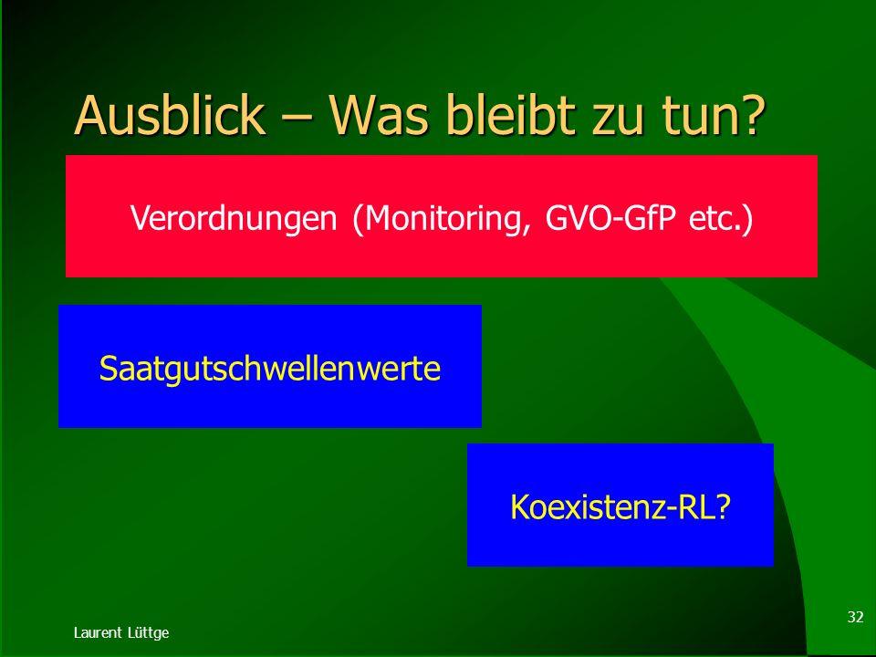 Laurent Lüttge 31 Abwehr- / Ausgleichsanspruch BGB § 906 Zuführung unwägbarer Stoffe (1) Der Eigentümer eines Grundstücks kann die Zuführung von Gasen
