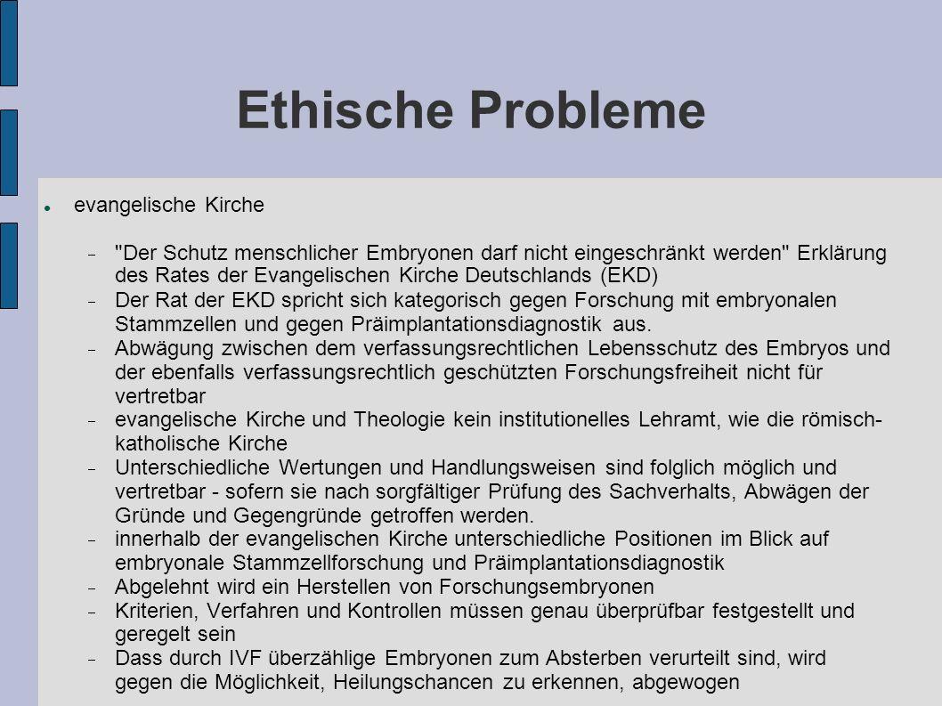 Ethische Probleme evangelische Kirche