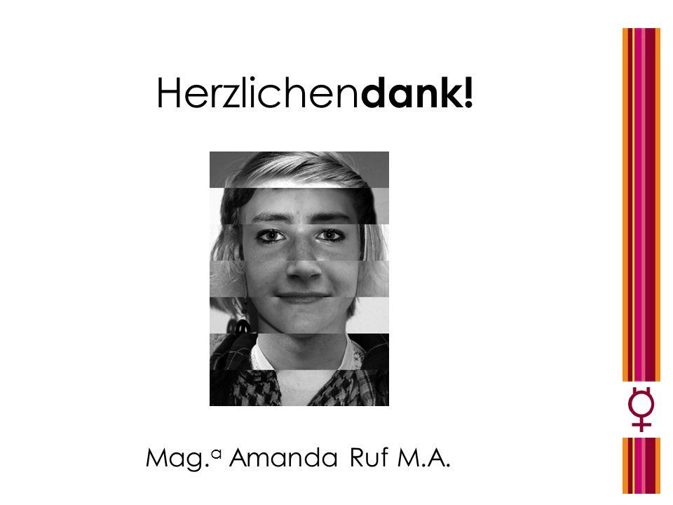 Mag. a Amanda Ruf M.A. Herzlichen dank!