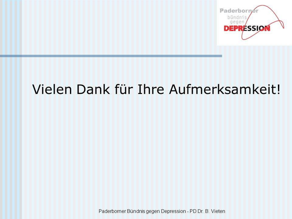 Paderborner Bündnis gegen Depression - PD Dr. B. Vieten Vielen Dank für Ihre Aufmerksamkeit!