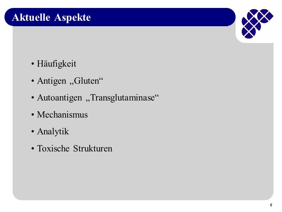 47 ELISA-Result AntibodyGliadin R5 (Mendez et al., Madrid) a) Sandwich b) Competitive 0.09 % 0.16 % W6/8 (Ellis et al., London)0.18 %