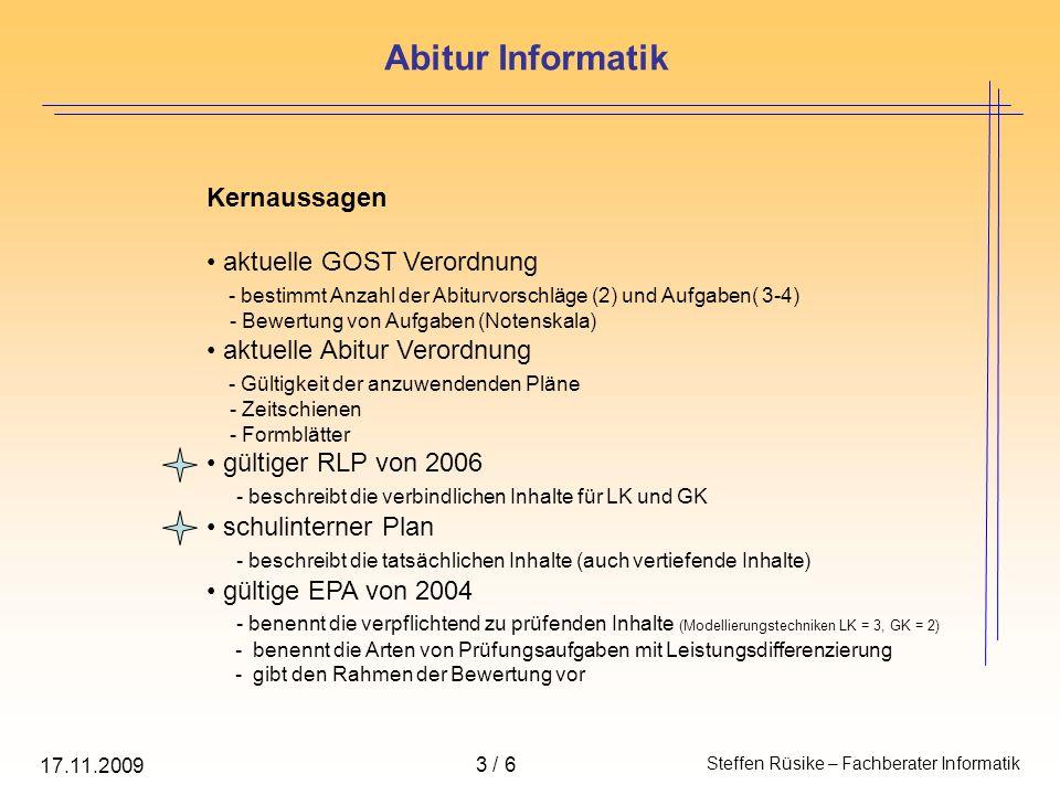 Kernaussagen aktuelle GOST Verordnung - bestimmt Anzahl der Abiturvorschläge (2) und Aufgaben( 3-4) - Bewertung von Aufgaben (Notenskala) aktuelle Abi