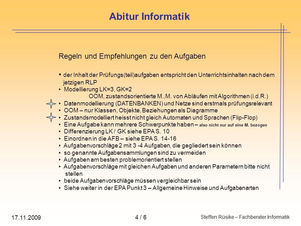 Regeln und Empfehlungen zu den Lösungen die Bewertung (Notenskala) erfolgt gemäß der GOST-V die Bewertungspunkte sind den AFB 1-3 zuzuordnen, wobei auf eine Teillösung max.