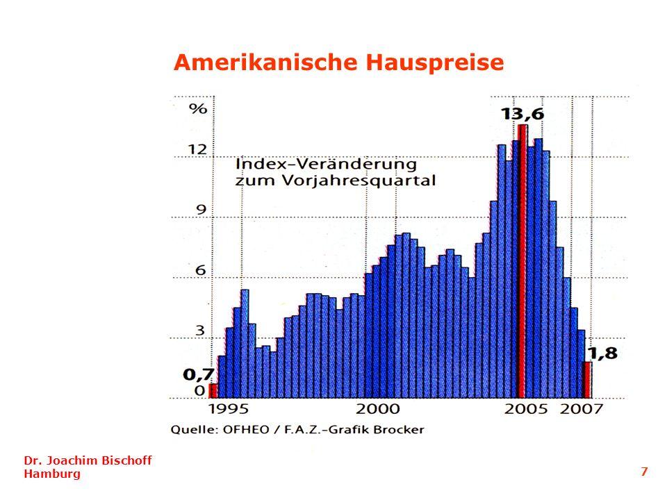 Dr. Joachim Bischoff Hamburg 7 Amerikanische Hauspreise
