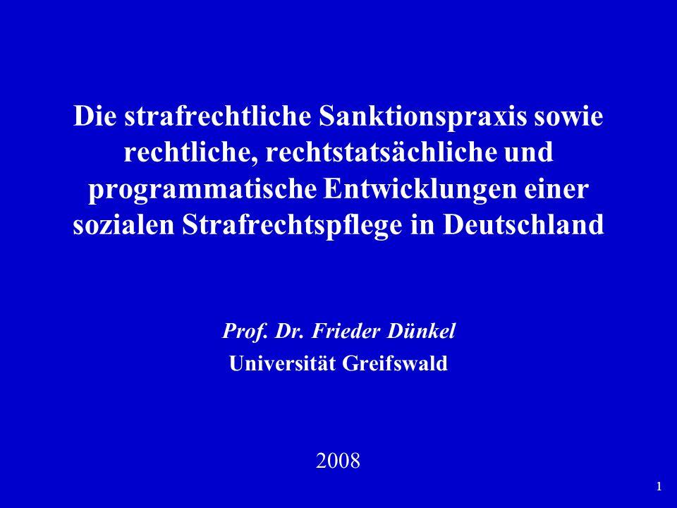 12 Entwicklung der Sanktionspraxis im allgemeinen Strafrecht, 1882-2006