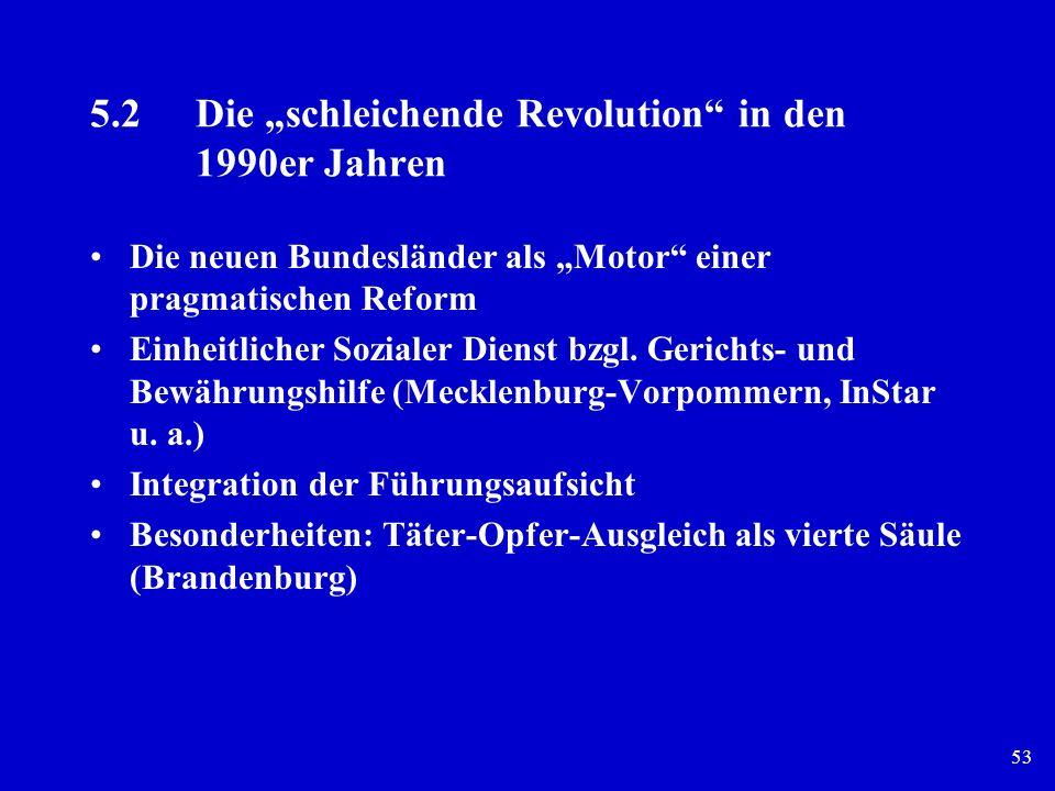 53 5.2Die schleichende Revolution in den 1990er Jahren Die neuen Bundesländer als Motor einer pragmatischen Reform Einheitlicher Sozialer Dienst bzgl.