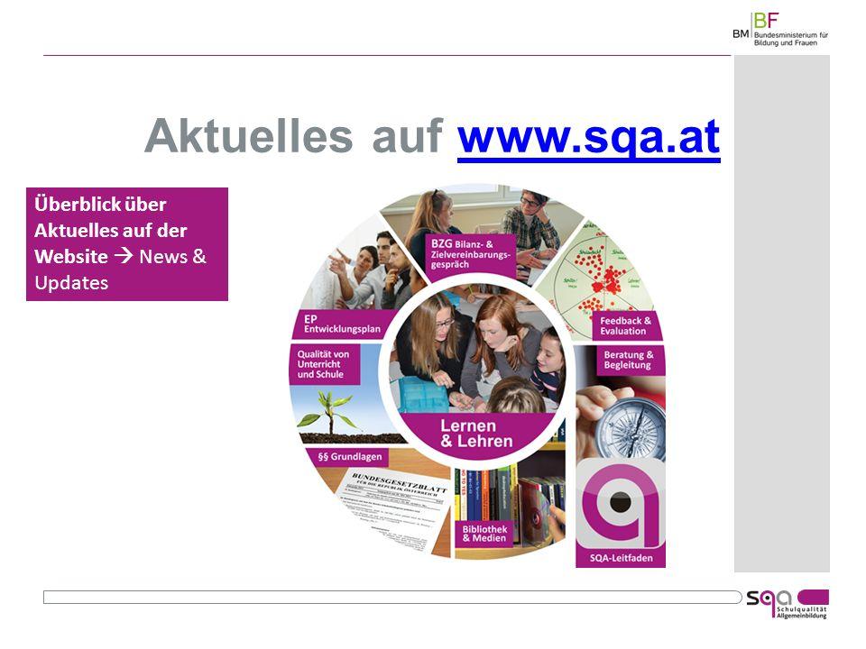 Aktuelles auf www.sqa.atwww.sqa.at Überblick über Aktuelles auf der Website News & Updates