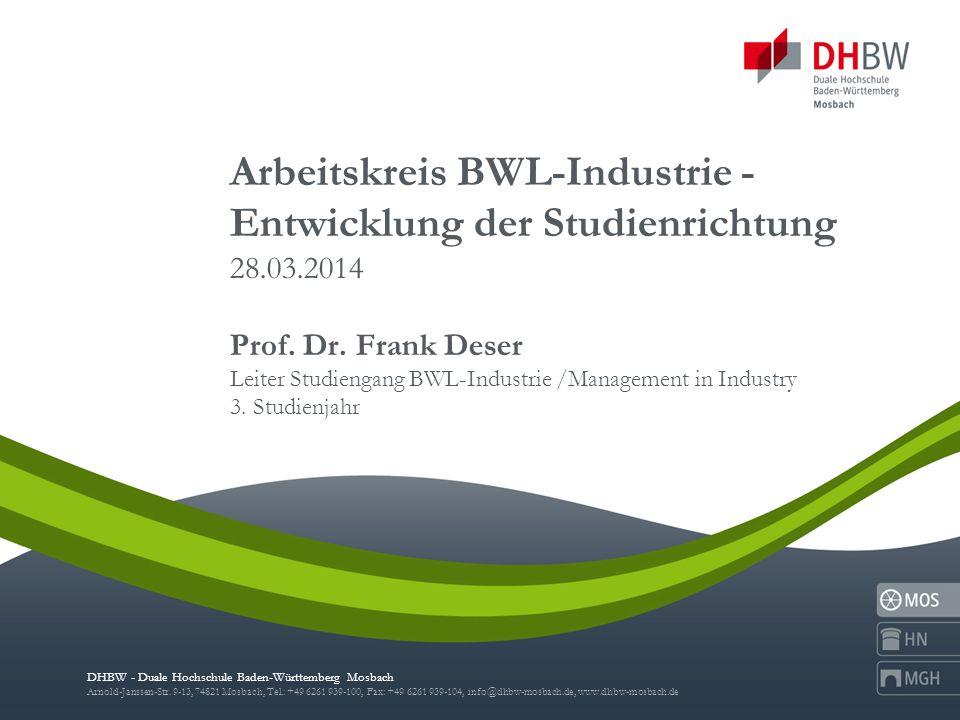 2 Exzellenzinitiative BWL-Industrie: Industrie-Stiftungspreis für hervorragende Studienleistungen