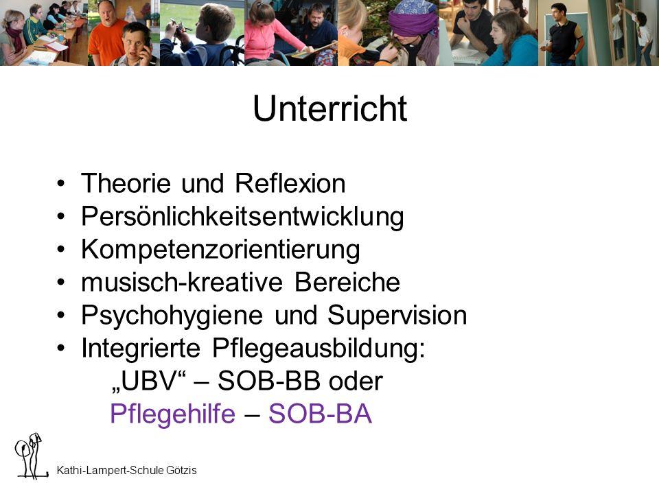 Kathi-Lampert-Schule Götzis Unterricht – Pflege (SOB-BB) Pflegeausbildungen sind in Österreich im Detail gesetzlich geregelt.