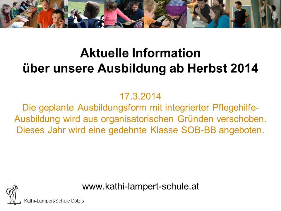 Kathi-Lampert-Schule Götzis Neuer Schulstandort seit 2013 Haus Bildung am Garnmarkt 12