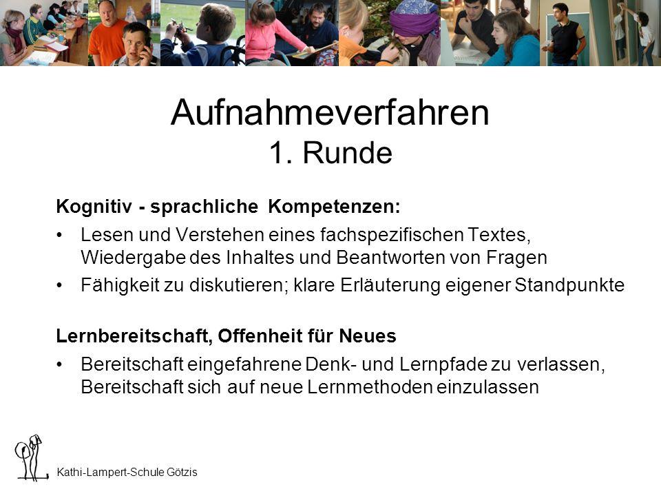 Kathi-Lampert-Schule Götzis Aufnahmeverfahren Zwischenergebnis Ca.