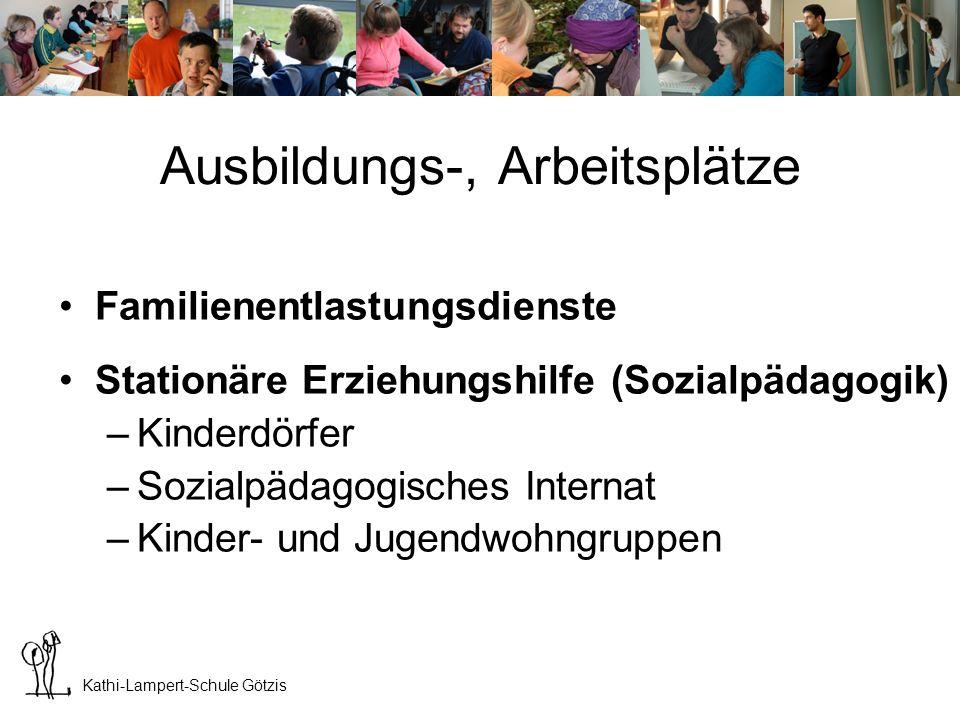 Kathi-Lampert-Schule Götzis Ausbildungs-, Arbeitsplätze StützpädagogInnen an Schulen –Körperbehindertenschule –Integrationsklassen, Sonderschulen –Ganztagesformen