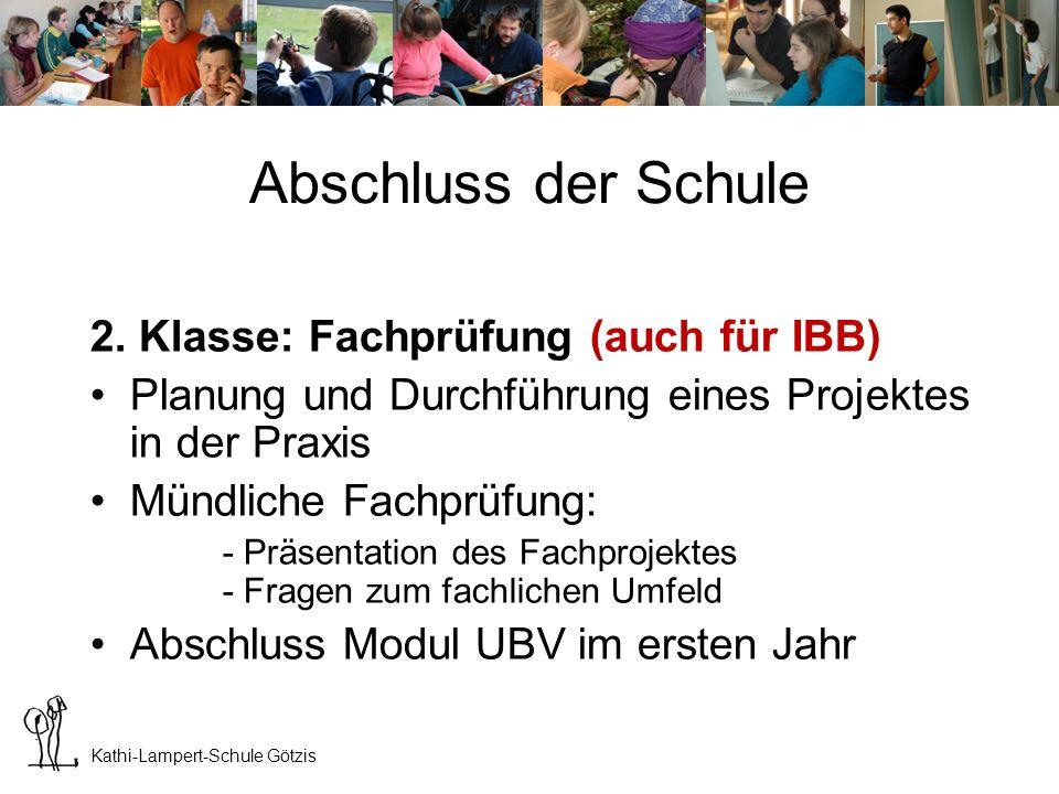 Kathi-Lampert-Schule Götzis Abschluss der Schule 3.