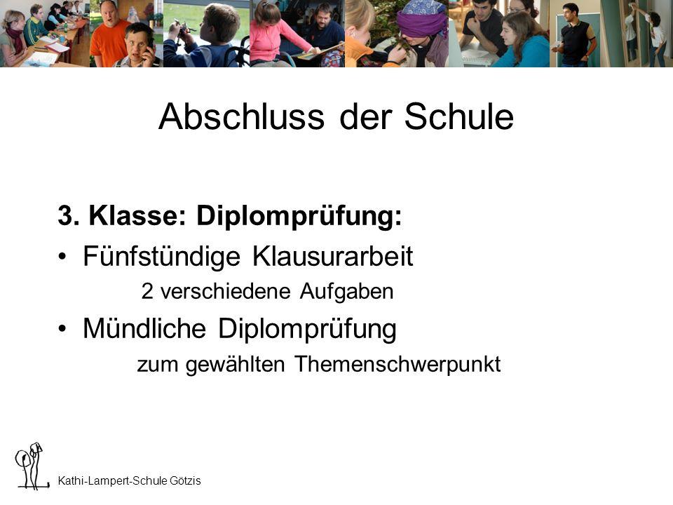 Kathi-Lampert-Schule Götzis Berufstitel Diplom-SozialbetreuerIn DSB (nach 3 J.) Fach-SozialbetreuerIn FSB (nach 2 J.) IBB: Fach-SozialhelferIn (nach 2 J.) Dieses Berufsbild ist in allen Bundesländern seit 2007 mit Landesgesetzen geregelt.