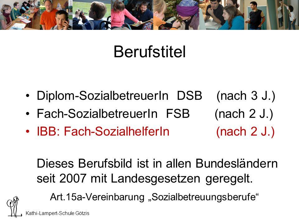 Kathi-Lampert-Schule Götzis Sozialbetreuungsberufe Auch MitarbeiterInnen mit anderen Ausbildungen können die Anerkennung als SozialbetreuerInnen beantragen.